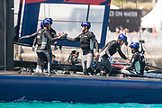 The Great Sound, Bermuda, 21st June 2017, Red Bull Youth America's Cup Finals. Race five. NZL Sailing Team wins.