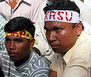 CAPTION : Activists of All Koch Rajbongshi Students' Union (AKRSU) organized a rally at Koch-Rajbongshi infested area of Northeast Indian State, Assam, September 15th, 2003 for demanding separate Kamatapur State.  (Pic-SHIB SHANKAR CHATTERJEE)