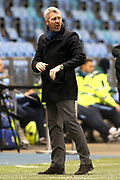 Everton Women's Team Manager Willie Kirk during the FA Women's Super League match between Manchester City Women and Everton Women at the Sport City Academy Stadium, Manchester, United Kingdom on 20 February 2019.