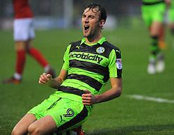 Christian Doidge of Forest Green Rovers scores a goal making it 1-1 - Mandatory by-line: Nizaam Jones/JMP - 18/11/2017 - FOOTBALL - New Lawn Stadium - Nailsworth, England - Forest Green Rovers v Crewe Alexandre-Sky Bet League Two