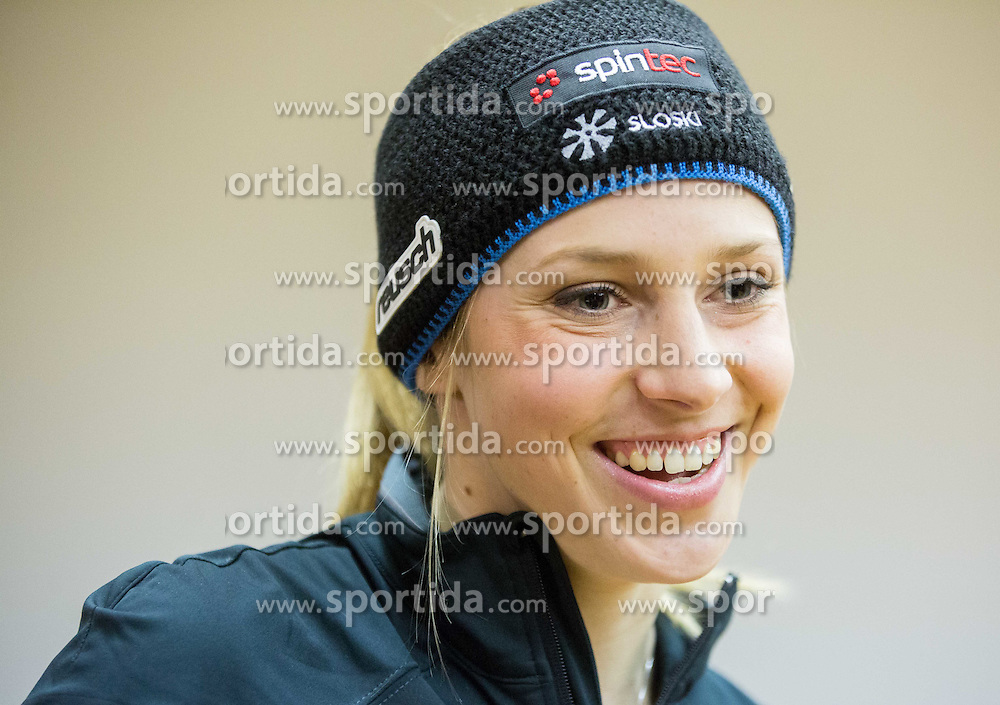 Ana Bucik at press conference of Slovenian Women Ski Team before FIS Alpine World Ski Championships Vail Beaver Creek 2015, on January 27, 2015 in Petrol, Ljubljana, Slovenia. Photo by Vid Ponikvar / Sportida