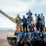 North Carolina State Wolfpack players visit with the troops at  Fort Bliss Texas during the week of events for the 84th Annual Hyundai Sun Bowl. December 27, 2017