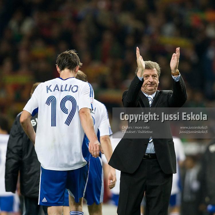 Roy Hodgson. Portugali-Suomi, EM-karsinta, Porto. 21.11.2007. Photo: Jussi Eskola