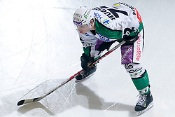 John Hughes (HDD Tilia Olimpija, #72) during ice-hockey match between HDD Tilia Olimpija and EHC Liwest Black Wings Linz in 37th Round of EBEL league, on Januar 9, 2011 at Hala Tivoli, Ljubljana, Slovenia. (Photo By Matic Klansek Velej / Sportida.com)