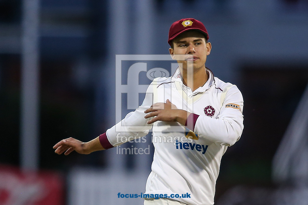Max Holden of Northamptonshire CCC during the Specsavers County C'ship Div Two match at the County Ground, Northampton<br /> Picture by Andy Kearns/Focus Images Ltd 0781 864 4264<br /> 26/06/2017