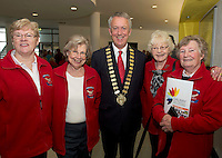 Monivea Age Action  Maura Traynor, Joyce Pitts , Mayor of County Galway Cllr Liam Carroll , Peggy Collins, Judy Feeney at NUIG for the launch of the Galway Age Friendly Strategy, which sets out a plan to make Galway City and County a great place in which to grow up and grow old. The Strategy was developed following extensive consultation with older people across the city and county and aims to ensure that older people continue to be supported to play an active role in their communities. The launch of the strategy is an important milestone as it sets out a blueprint for how we will plan and develop communities in the coming years to ensure that Galway is a truly great place in which to grow up and grow old. Photo:Andrew Downes