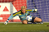 July 1, 2007 - Kansas City, MO..Kansas City Wizards Goal Keeper Kevin Hartman goes down to make a save against the Toronto FC at Arrowhead Stadium in Kansas City, Missouri on July 1, 2007...MLS:  The Toronto FC and Wizards ended in a 1-1 tie.   .Photo by Peter G. Aiken / Cal Sport Media