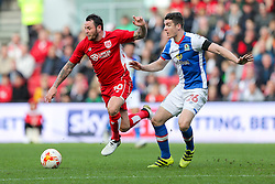 Lee Tomlin of Bristol City is challenged by Darragh Lenihan of Blackburn Rovers - Rogan Thomson/JMP - 22/10/2016 - FOOTBALL - Ashton Gate Stadium - Bristol, England - Bristol City v Blackburn Rovers - Sky Bet EFL Championship.