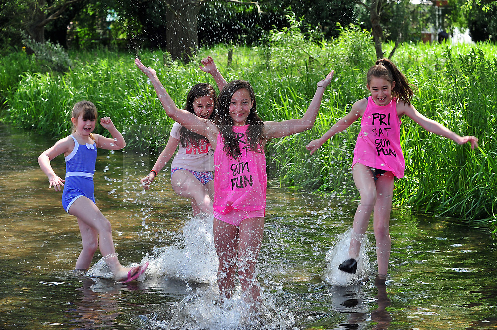 &copy; Licensed to London News Pictures. 01/06/2017<br /> Half term holiday fun for family's enjoying the warm weather along the river Darent in Eynsford, Kent.<br /> Photo credit: Grant Falvey/LNP
