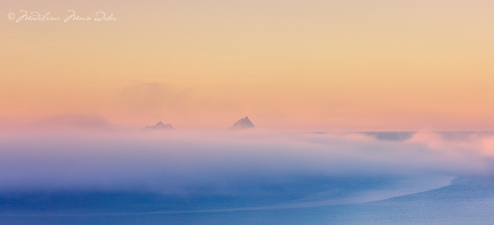 Misty Sunrise Skellig Islands / sk033 I love the Skelligs, ****** <br />