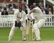 .Photo Peter Spurrier.Sport - Cricket.22/06/02.Bensen & Hedges Cup Final Lords Ground.Essex's Darren Robinson batting with Wark's keeper Keith Piper. [Mandatory Credit: Peter Spurrier:Intersport Images]