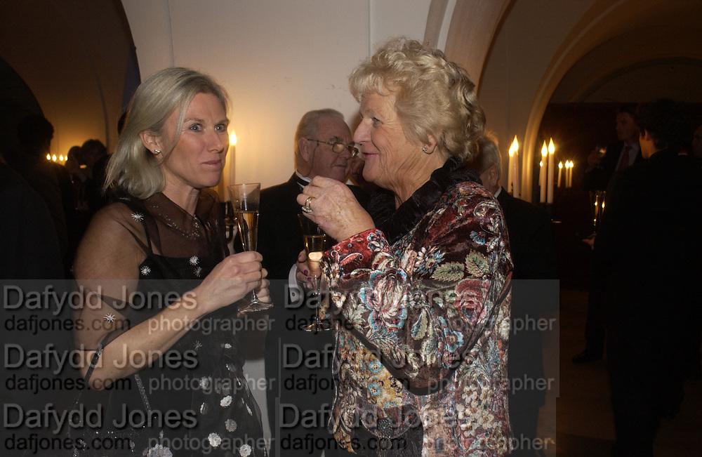 Michelle Leveridge and Valerie Brake. The Leader's Dinner ( Michael Howard's ) Banqueting House. Whitehall. London.  November 2005. ONE TIME USE ONLY - DO NOT ARCHIVE  © Copyright Photograph by Dafydd Jones 66 Stockwell Park Rd. London SW9 0DA Tel 020 7733 0108 www.dafjones.com