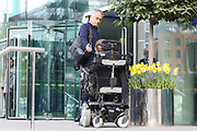 Jose Mourinho Manager of Manchester United Manager signs autograph as he departs the Lowry hotel before the Manchester United vs Celta Vigo match  at Old Trafford, Manchester, United Kingdom on 11 May 2017. Photo by Phil Duncan.