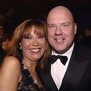 Uitreiking populariteitsprijs 2002, Sandra Reemer en gaston Starreveld