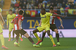 January 20, 2019 - Vila-Real, Castellon, Spain - Karl Toko Ekambi of Villarreal and Yuri Berchiche of Athletic Club de Bilbao during the La Liga Santander match between Villarreal and Athletic Club de Bilbao at La Ceramica Stadium on Jenuary 20, 2019 in Vila-real, Spain. (Credit Image: © AFP7 via ZUMA Wire)
