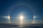 Sundogs on the Canadian prairie<br /> Lorette<br /> Manitoba<br /> Canada
