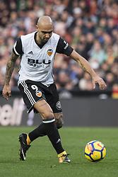 December 23, 2017 - Valencia, Spain - Simone Zaza during the match between Valencia CF against Villarreal CF , week 17 of  La Liga 2017/18 at Mestalla stadium, Valencia, SPAIN - 17th December of 2017. (Credit Image: © Jose Breton/NurPhoto via ZUMA Press)