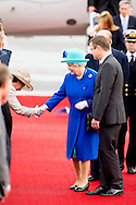 23-6-2015 BERLIN - Queen Elizabeth II arrives with Duke of Edinburgh Prince Philip at the Tegel airport for a 4 days state visit to Germany . Queen Elizabeth II  and Duke of Edinburgh Prince Philip  will visit Germany 4 days COPYRIGHT ROBIN UTRECHT