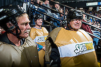 KELOWNA, CANADA - DECEMBER 2: Fans prepare to play the subway game during intermission on December 2, 2015 at Prospera Place in Kelowna, British Columbia, Canada.  (Photo by Marissa Baecker/Shoot the Breeze)  *** Local Caption *** Subway;