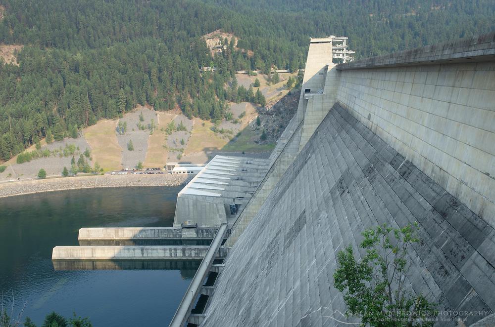 Libby Dam, impounding the Kootenai River and creating Lake Koocanusa in northwest Montana.