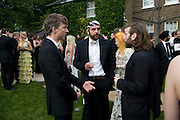 JEFFERSON HACK, ANDREAS KRONTHALER AND MAT COLLISHAW, Raisa Gorbachev Foundation Party, at the Stud House, Hampton Court Palace on June 7, 2008 in Richmond upon Thames, London,Event hosted by Geordie Greig and is in aid of the Raisa Gorbachev Foundation - an international fund fighting child cancer.  7 June 2008.  *** Local Caption *** -DO NOT ARCHIVE-© Copyright Photograph by Dafydd Jones. 248 Clapham Rd. London SW9 0PZ. Tel 0207 820 0771. www.dafjones.com.