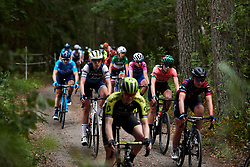 Ellen van Dijk (NED) in the woods during Postnord UCI WWT Vårgårda WestSweden Road Race, a 145.3 km road race in Vårgårda, Sweden on August 18, 2019. Photo by Sean Robinson/velofocus.com