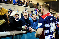 Alex Giltrow of Bristol Rugby speaks with fans after the game - Mandatory by-line: Dougie Allward/JMP - 30/12/2017 - RUGBY - The Athletic Ground - Richmond, England - Richmond v Bristol Rugby - Greene King IPA Championship
