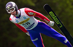 Jure Sinkovec of Slovenia during Ski Jumping Summer Continental Cup in Kranj, on July 2, 2011, in Kranj, Slovenia. (Photo by Vid Ponikvar / Sportida)