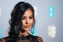 Maya Jama attending 72nd British Academy Film Awards, Arrivals, Royal Albert Hall, London. 10th February 2019