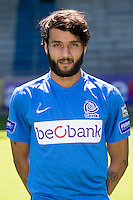 Genk's Tornike Okriashvili pictured during the 2015-2016 season photo shoot of Belgian first league soccer team KRC Genk, Friday 10 July 2015 in Genk