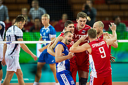 10.09.2014, Century Hall st. Wystawowa 1, Breslau, POL, FIVB WM, Finnland vs Russland, im Bild Rosja radosc // during the FIVB Volleyball Men's World Championships Pool A Match beween Finland and Russia at the Century Hall st. Wystawowa 1 in Breslau, Poland on 2014/09/10. EXPA Pictures © 2014, PhotoCredit: EXPA/ Newspix/ Sebastian Borowski<br /> <br /> *****ATTENTION - for AUT, SLO, CRO, SRB, BIH, MAZ, TUR, SUI, SWE only*****