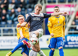 Cowdenbeath's Dean Brett and Falkirk's Stephen Kingsley.<br /> Falkirk 5 v 0 Cowdenbeath, Scottish Championship game played today at The Falkirk Stadium.<br /> &copy; Michael Schofield.