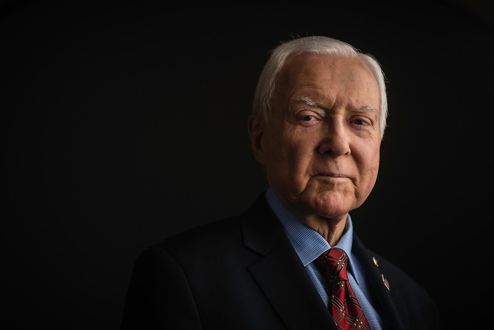 WASHINGTON, DC -- 12/21/17 -- Senator Orrin Hatch is the senior senator from Utah, Chairman of the Senate Finance Committee and President pro tempore of the United States Senate..…by André Chung #_AC27027
