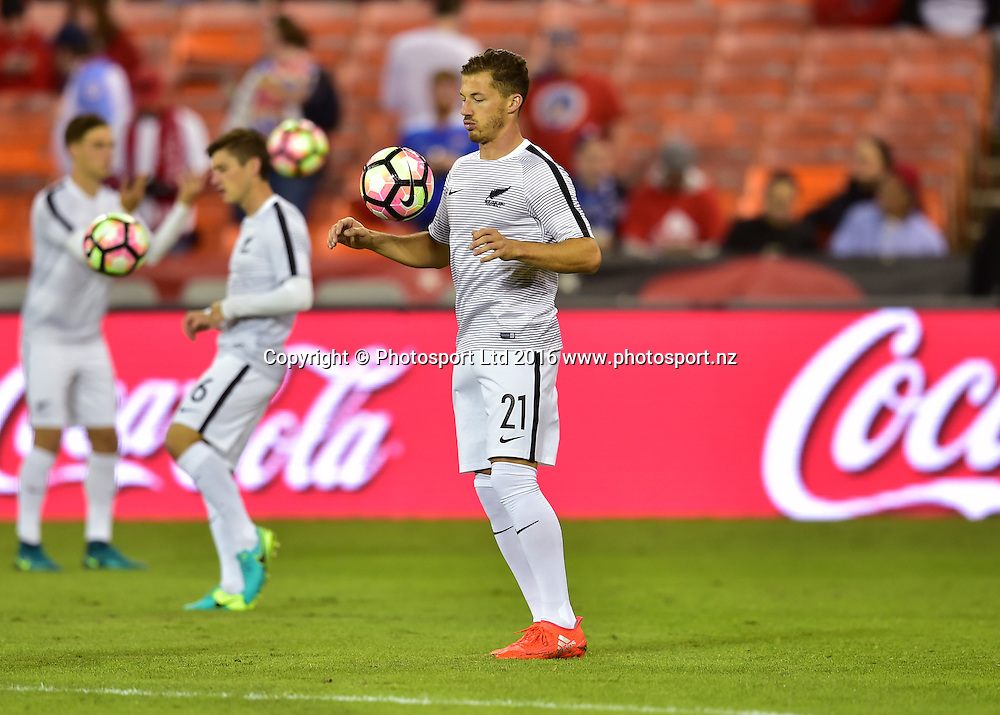 Liam Graham warms up before the match.<br /> Washington, D.C. - October 11, 2016: The U.S. Men's National team take on New Zealand in an international friendly game at RFK Stadium.<br /> Copyright photo: Brad Smith / www.photosport.nz