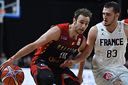November 24, 2017 - Anvers, Belgique - ANTWERPEN, BELGIUM - NOVEMBER 24 : Alexandre LIBERT  of Belgium, Axel JULIEN  of France during the First Round E FIBA World Cup China 2019 Qualifiers match between Belgium and France on November 24, 2017 in Antwerpen, Belgium, 24/11/2017 (Credit Image: © Panoramic via ZUMA Press)