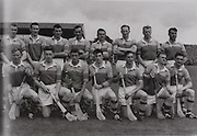 "Wexford-All-Ireland Hurling Champions 1960. Back Row: Padge Kehoe, Tom Neville, John Nolan, Nick O'Donnell (capt), Tim Flood, Billy Rackard, Ned Wheeler, Jim Morrissey. Front Row: Jim English, John Mitchell, Pat Nolan, Jimmy O'Brien, Jack Harding, Oliver ""Hopper"" McGrath, Seamus Quaid. ..All Ireland Senior Hurling Championship Final,.04.09.1960, 09.04.1960, 4th September 1960,..Senior Wexford v Tipperary, Wexford 2-15 Tipperary 0-11,.04091960AISHCF,..Wexford, 1960 All-Ireland Hurling Champions"