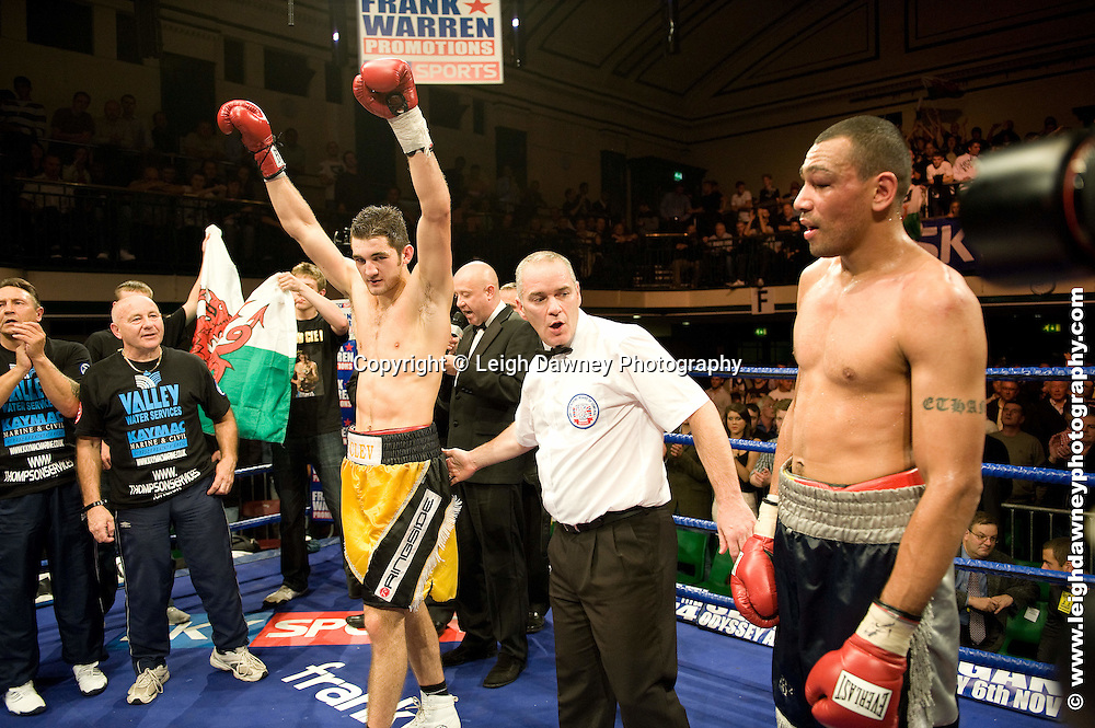 Nathan Cleverly defeats Courtney Fry at York Hall, Bethnal Green 9th ocotber 2009. Frank Warren Promotions.Credit: ©Leigh Dawney Photography