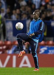 Liverpool, England - Wednesday, October 3, 2007: Olympique de Marseille's Djibril Cisse during the UEFA Champions League Group A match at Anfield. (Photo by David Rawcliffe/Propaganda)