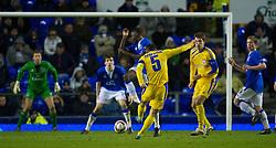 LIVERPOOL, ENGLAND - Thursday, December 17, 2009: FC BATE Borisov's Aliaksandr Yurevich scores the winning goal against Everton during the UEFA Europa League Group I match at Goodison Park. (Pic by David Rawcliffe/Propaganda)