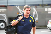 Burton Albion manager Nigel Clough arrives at the ground during the EFL Sky Bet Championship match between Nottingham Forest and Burton Albion at the City Ground, Nottingham, England on 21 October 2017. Photo by John Potts.