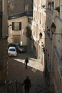 France. Paris. 18th district.  Impasse des Abbesses on Montmartre hill