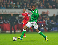 07.12.2013, Weserstadion, Bremen, GER, 1. FBL, SV Werder Bremen vs FC Bayern Muenchen, 15. Runde, im Bild Cedrick Makiadi (SV Werder Bremen #6) am Ball // Cedrick Makiadi (SV Werder Bremen #6) am Ball during the German Bundesliga 15th round match between SV Werder Bremen and FC Bayern Munich at the Weserstadion in Bremen, Germany on 2013/12/07. EXPA Pictures &copy; 2013, PhotoCredit: EXPA/ Andreas Gumz<br /> <br /> *****ATTENTION - OUT of GER*****