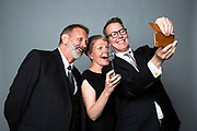 Mike Kenny, Richard Taylor and Jenny Harris from 509 Arts<br /> Winner of the RPS Music Award for Learning and Participation for <br /> Calderland - A People's Opera<br /> Photographed at the RPS Music Awards, London, Wednesday 9 May<br /> Photo credit required:  Simon Jay Price<br /> www.rpsmusicawards.com  #RPSMusicAwards