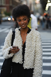Documenting street style of bloggers, models, and fashion show attendees. 07 Sep 2017 Pictured: Stylish fashion show attendees and models pose for photographers on the streets of New York. Photo credit: MEGA TheMegaAgency.com +1 888 505 6342