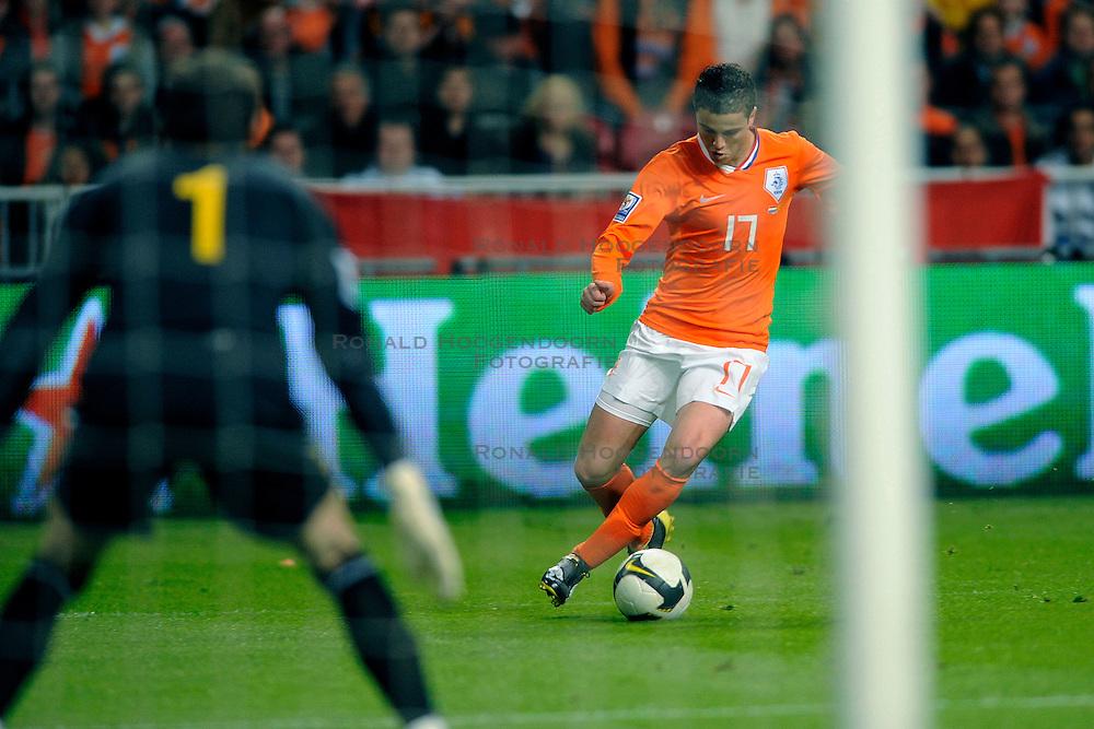01-04-2009 VOETBAL: WK KWALIFICATIE NEDERLAND - MACEDONIE: AMSTERDAM<br /> Nederland wint met 4-0 van Macedonie / Ibrahim Afellay<br /> &copy;2009-WWW.FOTOHOOGENDOORN.NL