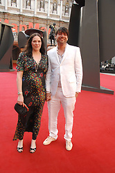 ALEX JAMES and his wife CLAIRE at the Royal Academy of Art Summer Exhibition Preview Party on 4th June 2008.<br /><br />NON EXCLUSIVE - WORLD RIGHTS