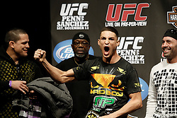Dec 12, 2009; Memphis, TN, USA; Diego Sanchez weighs in for his upcoming bout against UFC Lightweight Champion BJ Penn at UFC 107.  The two will meet at the FedEx Forum in Memphis, TN.