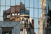 Stephansplatz, Vienna, Austria. Abstract reflection in high-rise windows