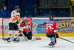25.01.2019, Ice Rink, Znojmo, CZE, EBEL, HC Orli Znojmo vs Moser Medical Graz 99ers, 41. Runde, im Bild v.l. Dwight King (Moser Medical Graz99ers) Tomas Halasz (HC Orli Znojmo) Patrik Parkkonen (HC Orli Znojmo) // during the Erste Bank Eishockey League 41th round match between HC Orli Znojmo and Moser Medical Graz 99ers at the Ice Rink in Znojmo, Czechia on 2019/01/25. EXPA Pictures © 2019, PhotoCredit: EXPA/ Rostislav Pfeffer