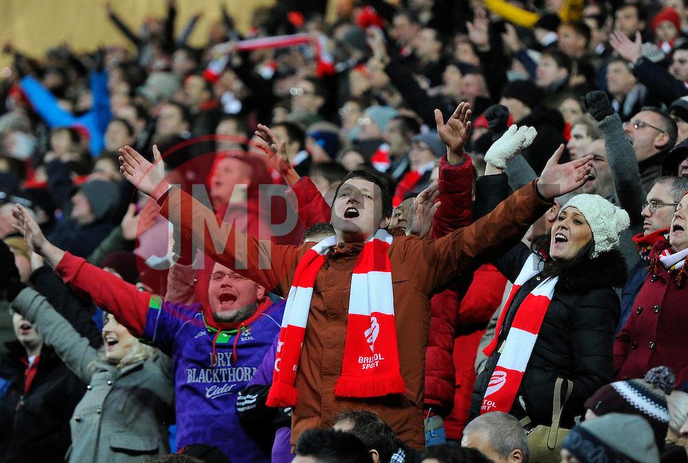 Bristol City fans  - Photo mandatory by-line: Joe Meredith/JMP - Mobile: 07966 386802 - 07/02/2015 - SPORT - Football - Milton Keynes - Stadium MK - MK Dons v Bristol City - Sky Bet League One
